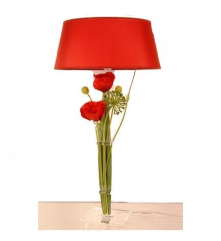 lampe compo pavot rouge