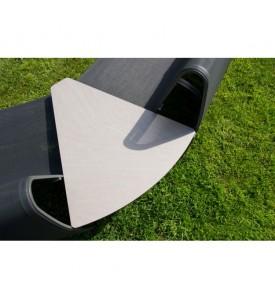 Tablette d'angle Jet Stream Gris Espace