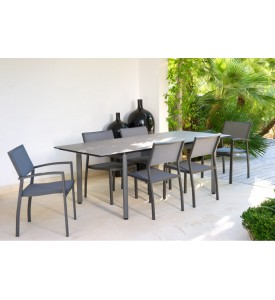 Table de jardin Rio extensible allonge papillon