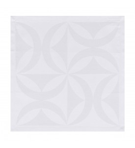Serviette de table Ellipse blanc