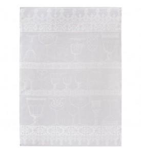 Torchon essuie-verre cristal blanc