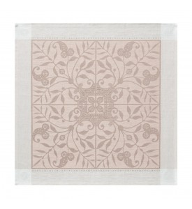 Serviette de table lin Venezia beige cendre