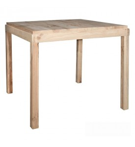 Table haute en bois naturel