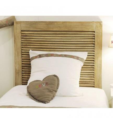 T te de lit en bois manguier newport t te de lit de chez for Tete de bouddha pour jardin