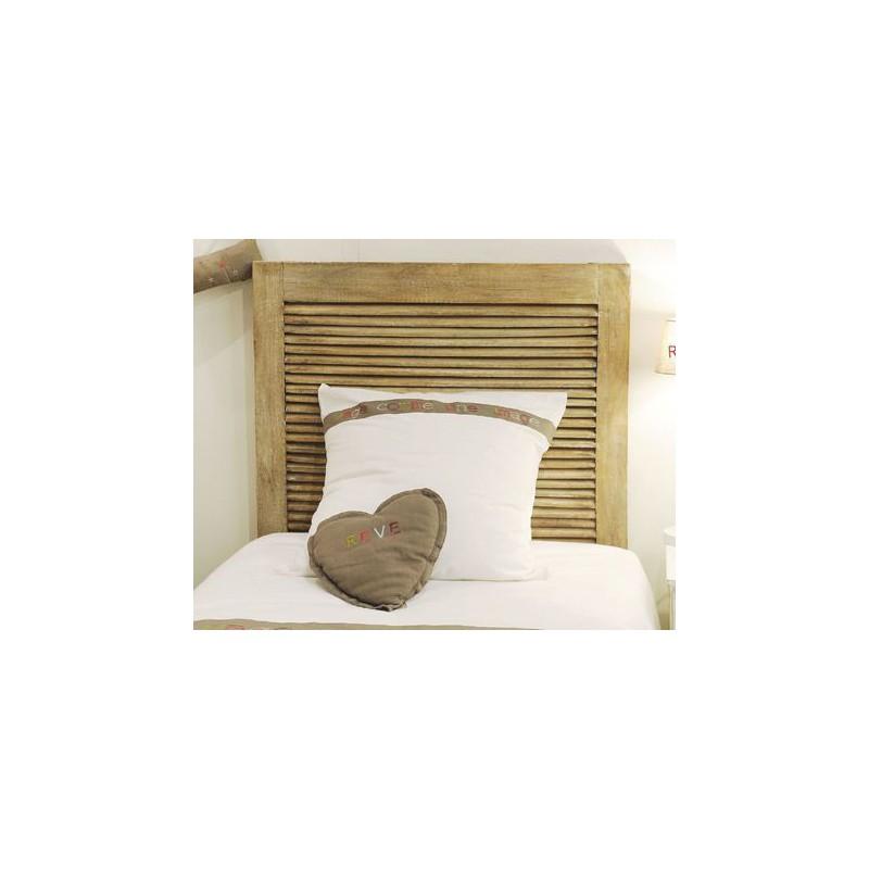 Tête de lit en bois Manguier Newport, tête de lit de chez