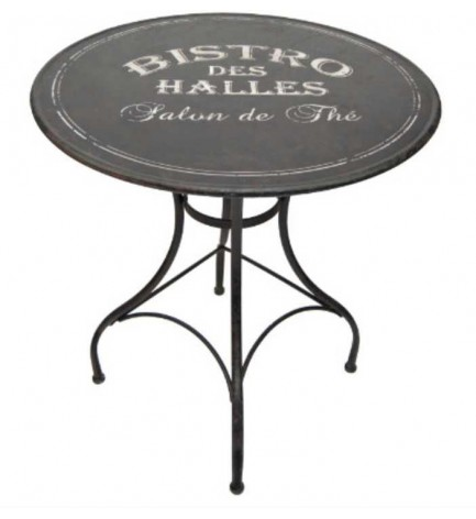 table ronde bistrot des halles, table esprit vintage de anticline