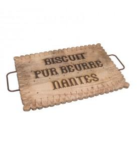 Plateau en bois Biscuit