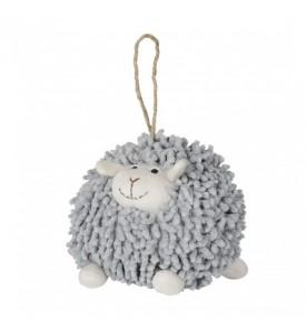 Peluche mouton gris à suspendre