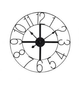 Nos horloges design et vintage for Horloge metal noir