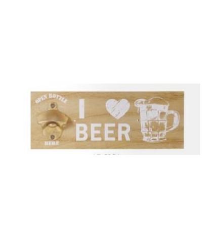 Décapsuleur mural I love beer