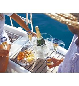 Set seau à champagne, snacks et porte coupes