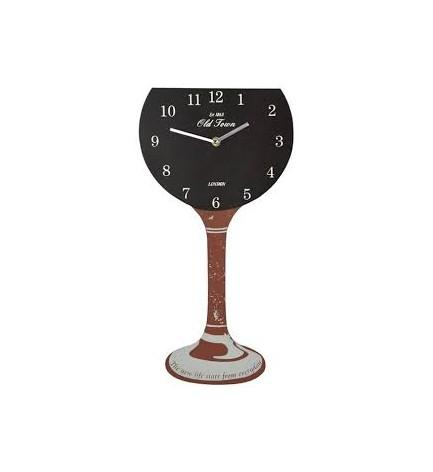 Pendule forme verre de vin noir