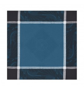 Serviette de table Palace bleu paon