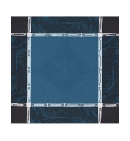 Serviette de table Palace bleu paon