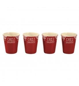 Lot de 4 tasses expresso Chez Paulette