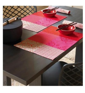 Lot de 2 sets de table enduits Fleurs de Kyoto