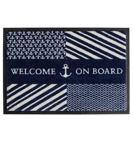 Tapis Welcome on board navy