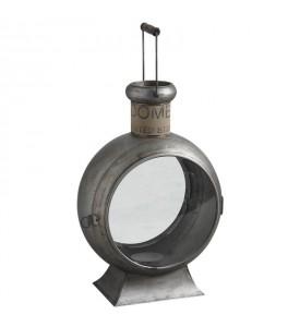 Lanterne métal et verre