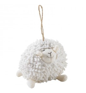 Peluche Mouton à suspendre Blanc