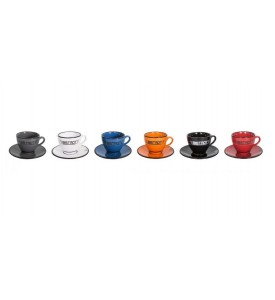 Lot de 6 tasses expresso 6 couleurs