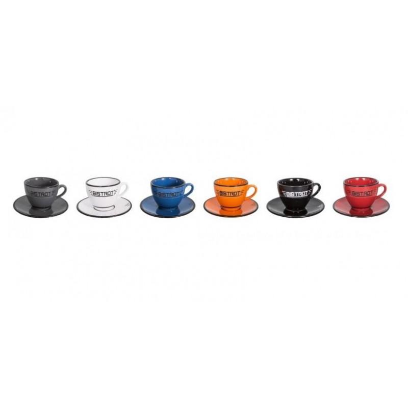 Lot de 6 tasses expresso 6 couleurs