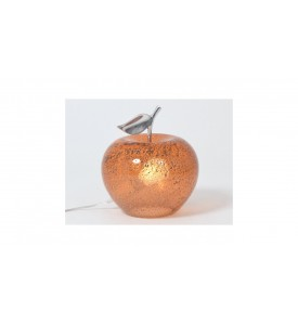 Lampe pomme orange