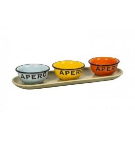 Set apéro 4 couleurs