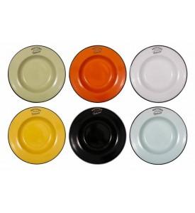 Lot de 6 assiettes à soupe 6 couleurs