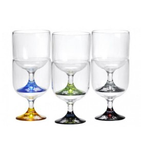 Lot de 6 mini verres empilables Party