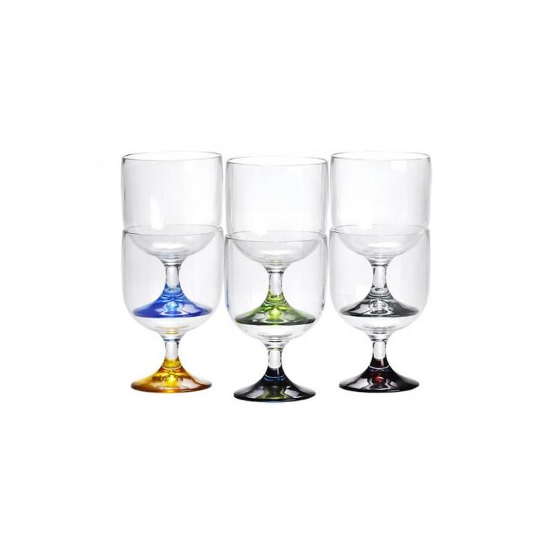 Lot de 6 mini verres empilables Party