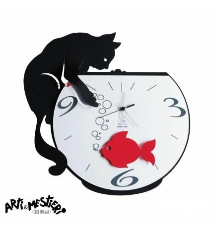 Horloge Tommy et le poisson rouge