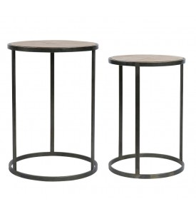 Lot de 2 tables gigognes Chalet