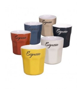Lot de 6 tasses Espresso 6 couleurs
