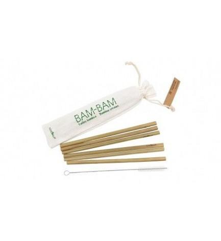 Lot de 6 pailles en bambou Bam bam