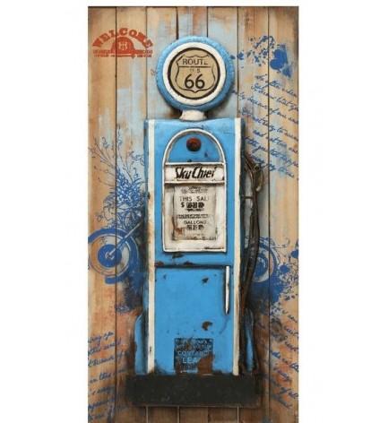 Tableau Pompe à Essence Vintage
