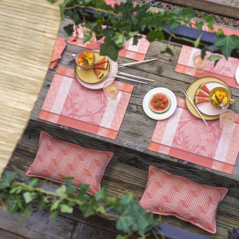 Lot de 2 sets de table enduits Nature urbaine