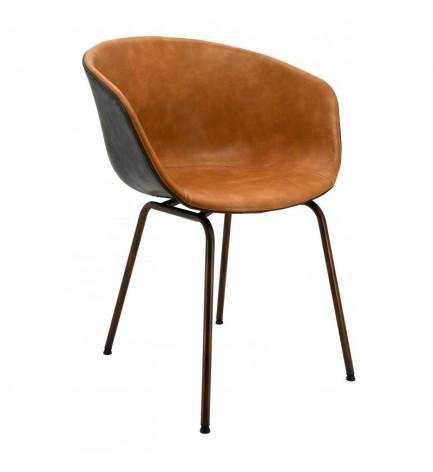 Lot de 2 fauteuils simili cuir