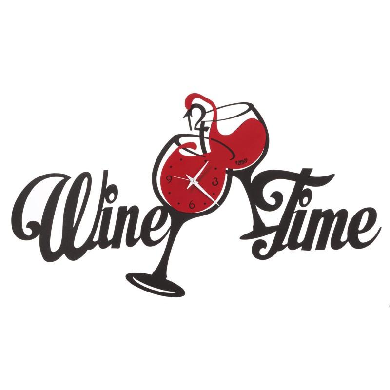 Horloge Wine time