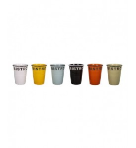 Lot de 6 gobelets Bistro 6 couleurs