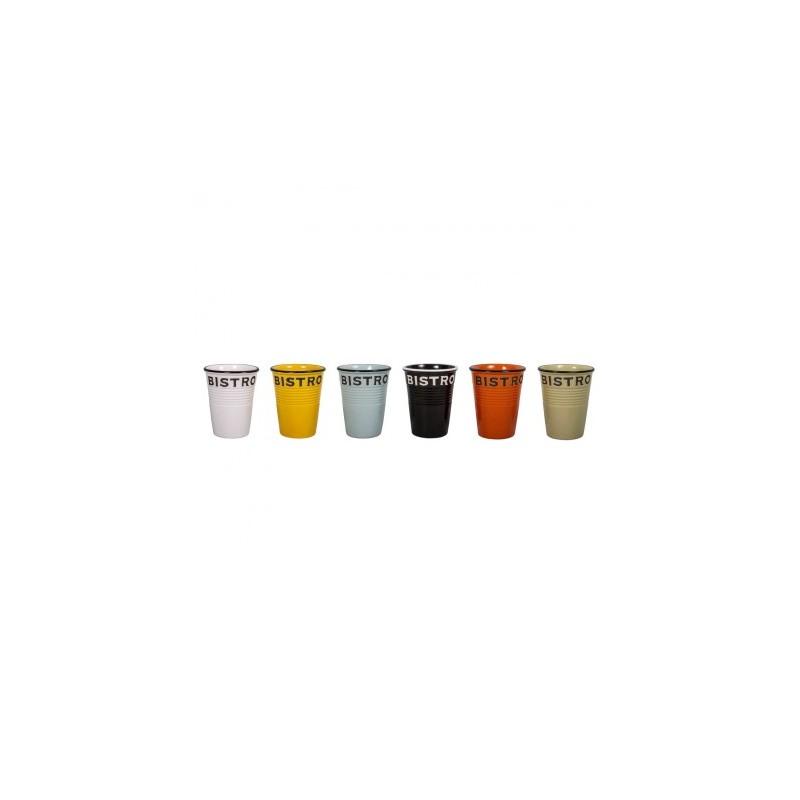 Lot de 6 gobelets Bistro 6 couleurs