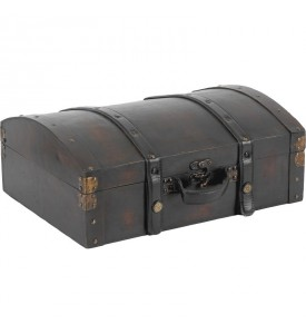 Valise bois et cuir