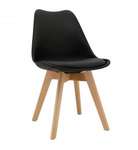 Lot de 2 chaises Poly noires