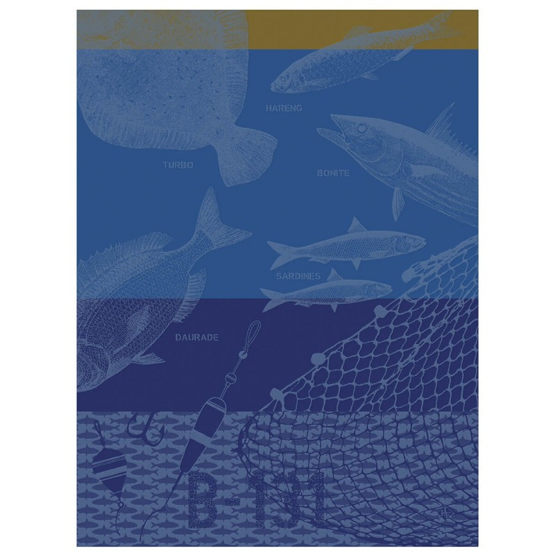 Torchon Pêche en mer