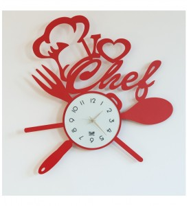 Horloge I love chef