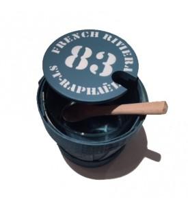 Pot à sel avec sa cuillère en bois