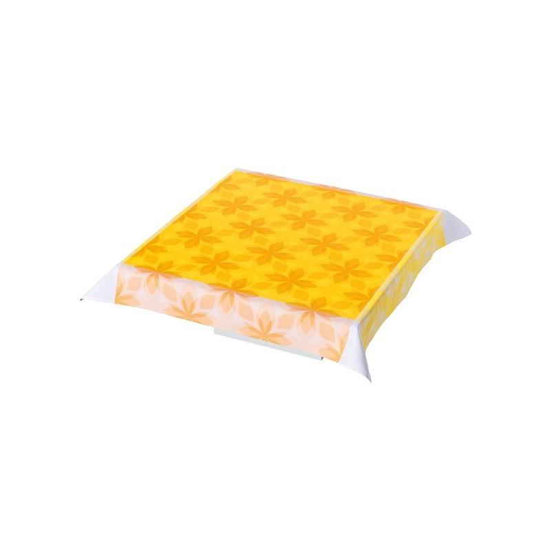 Nappe rétro pop jaune