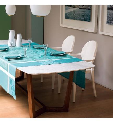 Nappe Linge de table nappe délicate fleurs de All-Over Pression multicolores environ Ø 150 cm